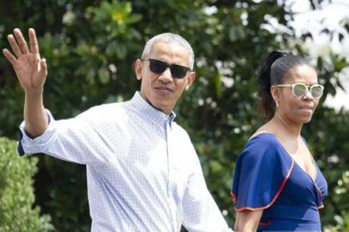 卸任总统后奥巴马年龄57岁时的照片