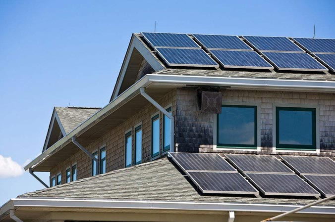 住宅地产太阳能屋顶科技