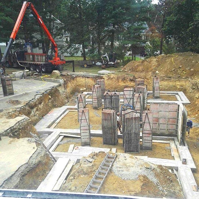 美国自建房-挖地基2