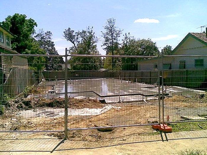 美国建房过程安装的临时围栏