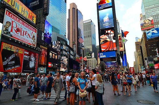 飞向美国纽约世代广场