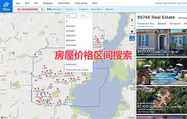 房屋价格区间搜索