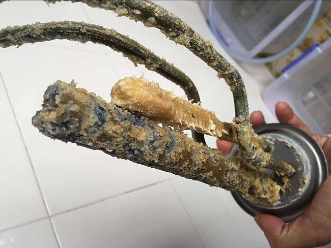 家中管道设备长期在硬水环境下的变化