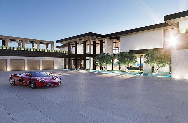 豪华木材质主题别墅设计